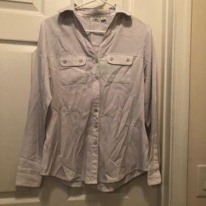 Cato Button Down Shirt Silver/LtGray, super nice